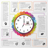 Modern work time management planning infographics. Business concept. Vector illustration Stock Photography
