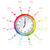 Modern work time management planning infographics Stock Image