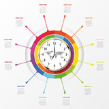 Modern work time management planning infographics Royalty Free Stock Image