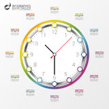 Modern work time management planning infographics. Vector Royalty Free Stock Photos