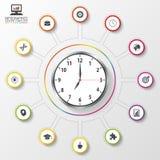 Modern work time management planning. Modern infographic template. Vector illustration.  Stock Image