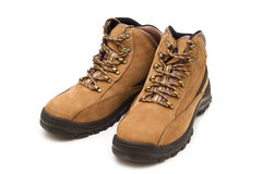 Modern working boots stock photography