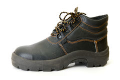 Modern working boots Royalty Free Stock Images