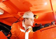 modern working för gruvarbetare Fotografering för Bildbyråer