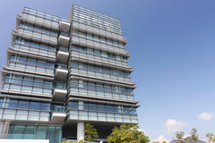 A modern working place. A modern building in Hong Kong Stock Photos
