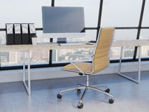 Modern working place Stock Image
