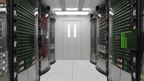 Modern working server room stock illustration