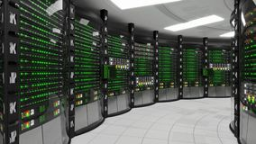 Modern working server room royalty free illustration