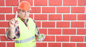 Modern workman with digital tablet Stock Photos