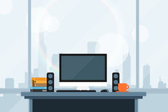 Modern workspace Royalty Free Stock Images