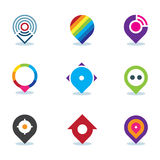 Modern world app global position locator community internet media logo icon Stock Photography