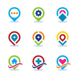 Modern World App Map Locator Social Internet Community Position Flat Icon. EPS10 Stock Photos