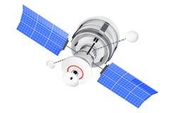 Modern World Global Navigation Satelite. 3d Rendering. Modern World Global Navigation Satelite on a white background. 3d Rendering stock illustration