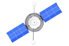 Modern World Global Navigation Satelite. 3d Rendering. Modern World Global Navigation Satelite on a white background. 3d Rendering Royalty Free Stock Image