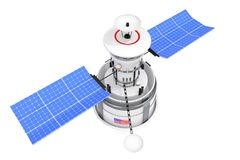 Modern World Global Navigation Satelite. 3d Rendering. Modern World Global Navigation Satelite on a white background. 3d Rendering Royalty Free Stock Images