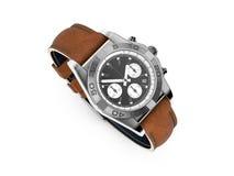 Modern Wristwatch on white Stock Photos