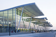 Modern Wroclaw airport terminal Stock Photos