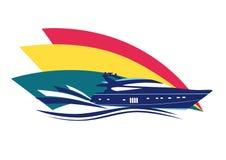 modern yacht royaltyfri illustrationer