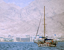 A modern yacht at the Aqaba gulf Stock Images