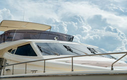 Modern yacht deckhouse Stock Image