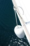 Modern yacht fender. Close-up of white modern yacht fender Royalty Free Stock Images