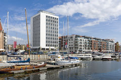 Modern, Yacht Harbor  in Gdansk Royalty Free Stock Photo