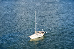 Modern yacht or sailing boat Royalty Free Stock Photo