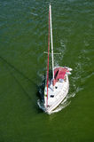 Modern yacht or sailing boat Royalty Free Stock Photography