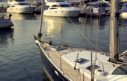 Modern yachts Stock Images