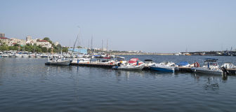 Modern yachts and boats in Touristic Tomis Port, Constanta Royalty Free Stock Photo