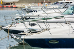 Modern Yachts Port Royalty Free Stock Photos