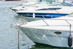 Modern Yachts Port Royalty Free Stock Images