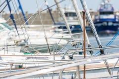 Modern Yachts Port Stock Image