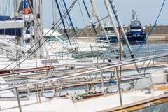 Modern Yachts Port Stock Photos