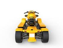 Modern yellow ATV - back view Royalty Free Stock Photo
