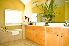 Modern Yellow Bathroom Royalty Free Stock Photography