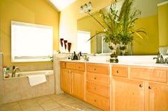 Modern Yellow Bathroom royalty free stock photography