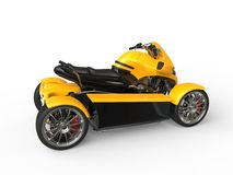 Modern yellow and black all terrain vehicle Stock Photography
