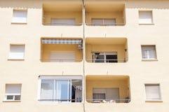 Modern yellow building Stock Photos