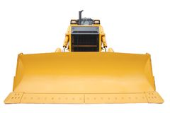 The modern yellow bulldozer. Isolated on a white background Royalty Free Stock Photography