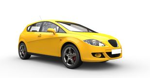 Modern Yellow Family Car Royalty Free Stock Photography