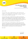 Modern yellow flat style letterhead template Royalty Free Stock Images