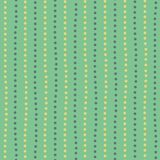 Modern yellow and green hand drawn dotted random vertical lines. Seamless geometric pattern on mint green background royalty free illustration