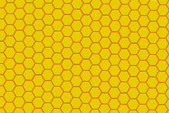 Modern yellow and orange hexagon background. 