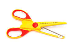 Modern yellow scissors Royalty Free Stock Images