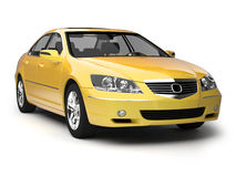 Modern yellow sport car Royalty Free Stock Photos