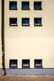 Modern yellow street wall Stock Photos