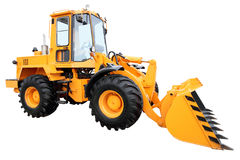 Modern yellow tractor Stock Photography