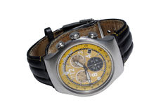Modern yellow watch Stock Image