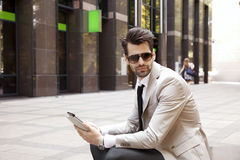 Modern young businessman Stock Photo